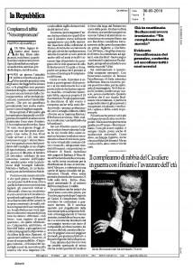 Citazione Ceccharelli su la Repubblica